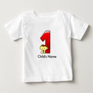 1r Camiseta del mono del cumpleaños