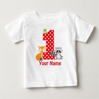 1r Camiseta personalizada arbolado del cumpleaños
