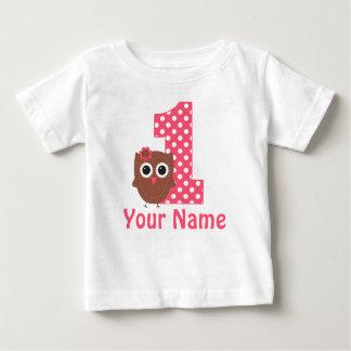 1r Camiseta personalizada búho del chica del
