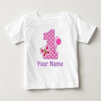 1r Camiseta personalizada mariposa del chica del