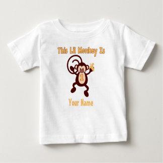 1r Camiseta personalizada mono del cumpleaños