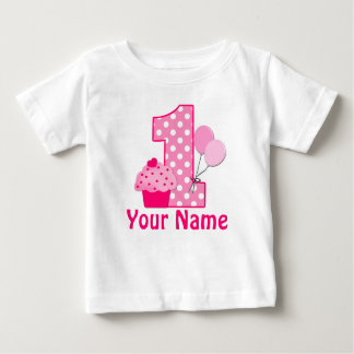 1r Camiseta personalizada rosa de la magdalena del