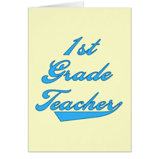 1r Camisetas y regalos azules del profesor del gra Tarjeta De Felicitación