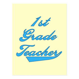 1r Camisetas y regalos azules del profesor del Postal
