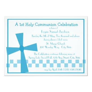 1r Cruz de la comunión Invitación 12,7 X 17,8 Cm