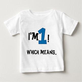 1r cumpleaños camiseta para bebé