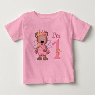 1r cumpleaños de princesa Bear Camiseta De Bebé