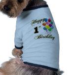 1r cumpleaños feliz camisa de perrito