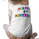 1r cumpleaños feliz - camisa del perro del camiseta sin mangas para perro