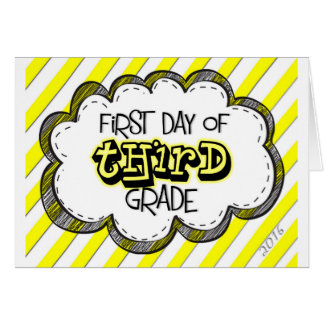 1r día de 3ro muestra del grado tarjeta de felicitación