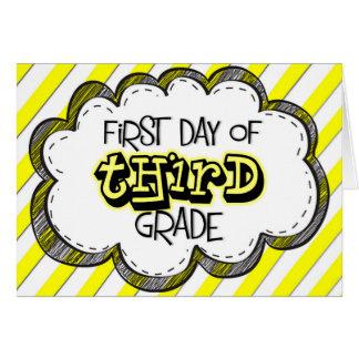 1r Día de 3ro tarjeta del grado