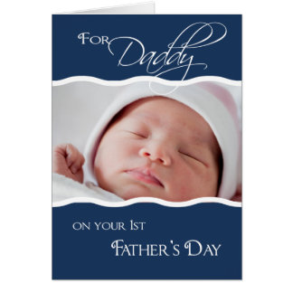 1r El día de padre - tarjeta de la foto