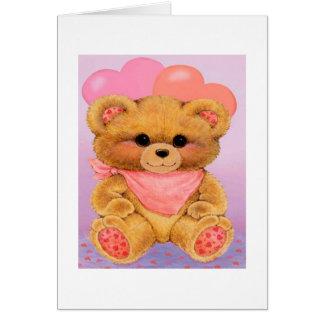 1r el día de San Valentín de la nieta - tarjeta de