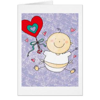 1r el día de San Valentín del nieto - tarjeta de