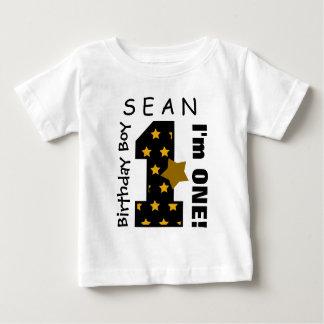 1r El muchacho del cumpleaños protagoniza un Camiseta De Bebé