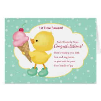 1r El tiempo Parents la tarjeta de la enhorabuena