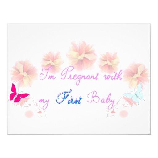 1r embarazo invitaciones personalizada