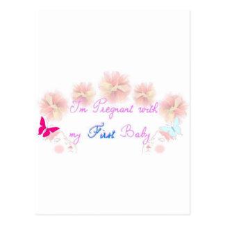 1r embarazo tarjeta postal