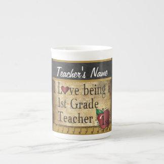 1r Estilo único del vintage del profesor del grado Taza De Porcelana