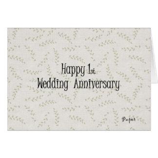 1r feliz Aniversario de boda Felicitación
