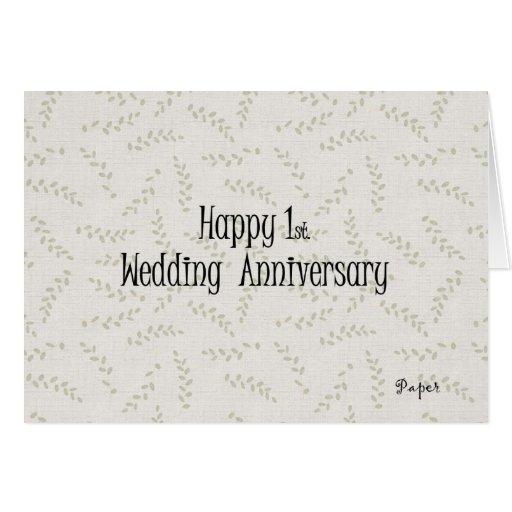 1r feliz. Aniversario de boda Felicitación