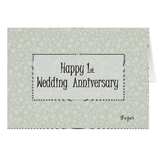 1r feliz. Aniversario de boda Tarjetón