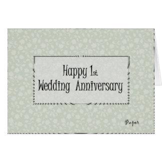 1r feliz. Aniversario de boda Tarjeta De Felicitación