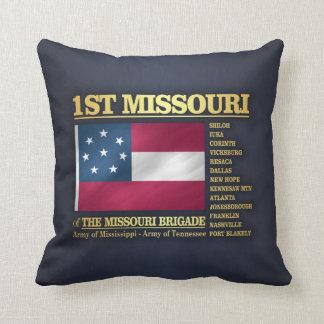 1r Infantería de Missouri (BA2) Cojín Decorativo