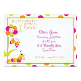 1r Invitación de la fiesta de cumpleaños con la