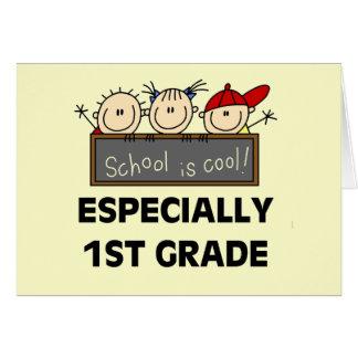 1r La escuela primaria es camisetas y regalos fres Tarjeta