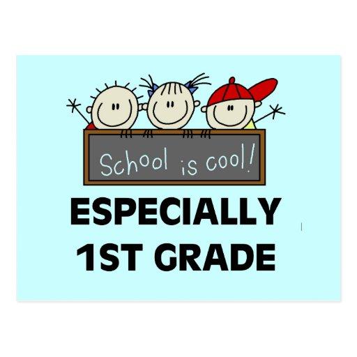 1r La escuela primaria es camisetas y regalos fres Tarjeta Postal