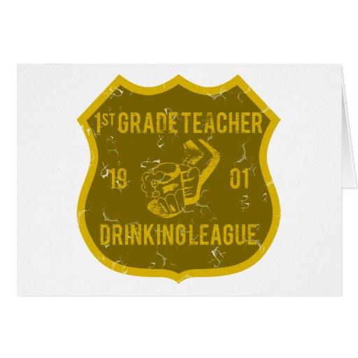 1r Liga de consumición del profesor del grado Felicitacion