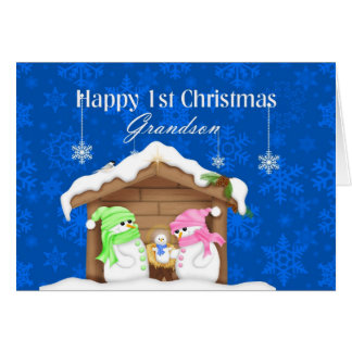 1r nieto feliz del navidad tarjeta de felicitación