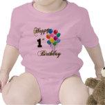 1r niño y camisetas felices del cumpleaños