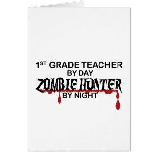 1r Noche del cazador del zombi del grado Tarjeta De Felicitación