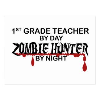 1r Noche del cazador del zombi del grado Tarjetas Postales