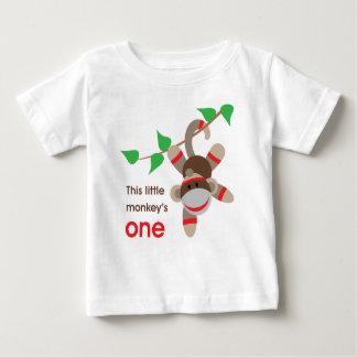 1r Pequeña camisa del mono del cumpleaños