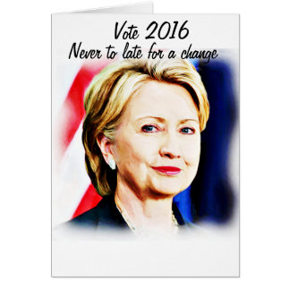 1r Presidente Hillary Clinton 2016_ de la mujer Tarjeta