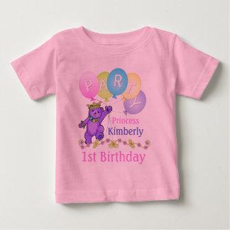 1r Princesa Bear de la fiesta de cumpleaños Camiseta De Bebé