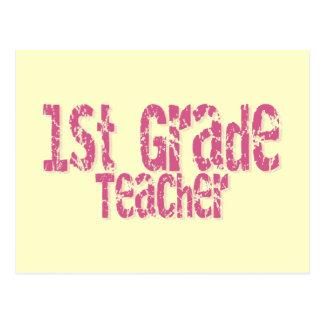 1r profesor apenado rosa del grado del texto postal