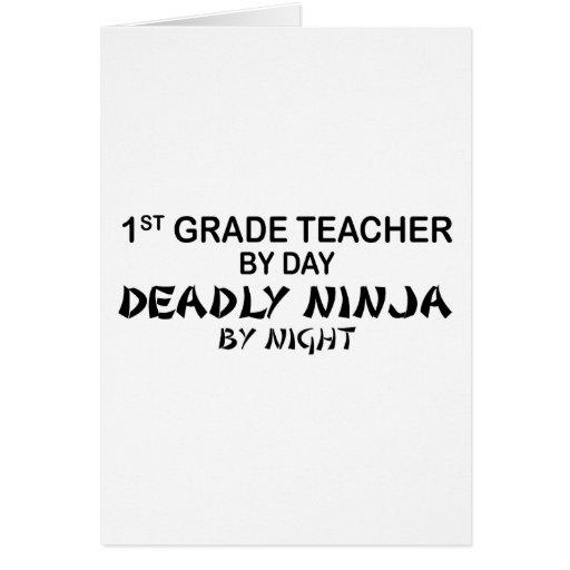 1r Profesor Ninja mortal del grado por noche Felicitaciones