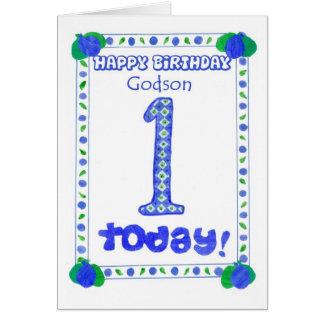 1r Tarjeta de cumpleaños para un ahijado del