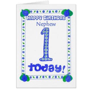 1r Tarjeta de cumpleaños para un sobrino