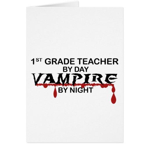 1r Vampiro del grado por noche Tarjetón
