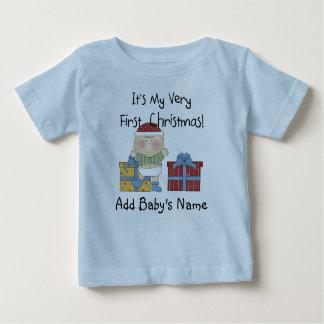 1ra camiseta del navidad del bebé