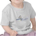 1ra camiseta feliz del azul del cumpleaños