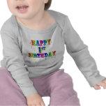 1ra camiseta feliz del cumpleaños y