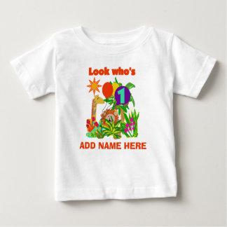 1ra camiseta personalizada del cumpleaños del