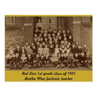 1ra clase del grado del león rojo de 1903 postales