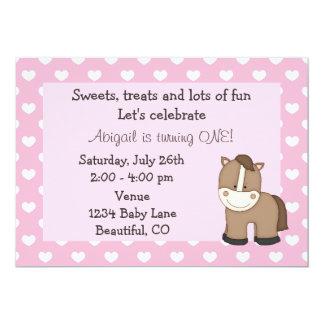 1ra invitación del cumpleaños del caballo lindo